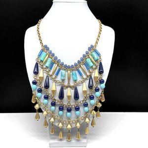 Stella & Dot Turquoise Stone Beaded Bib Necklace